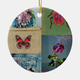 Butterflies and more round ceramic decoration