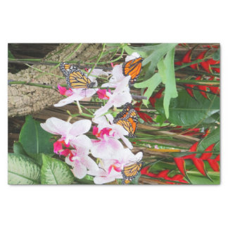 Butterflies and Orchids Tissue Paper