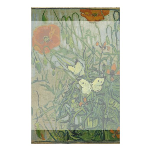 Butterflies and Poppies by Vincent Van Gogh Full Color Flyer