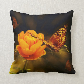 Butterflies and Rose American Mojo Pillow