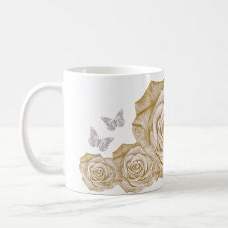 Butterflies and Roses Mug