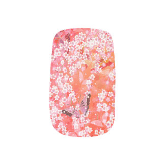 Butterflies and sakura Nail Art
