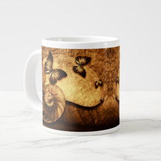 Butterflies and Shell Fossil Jumbo Mug