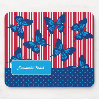 Butterflies and Stripes Mousepad