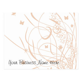 Butterflies and Swirls Floral Gift Certificate Postcard