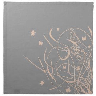 Butterflies and Swirls Grey American MoJo Napkins
