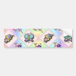 Butterflies and Wildflowers Bumper Sticker