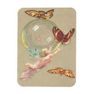 Butterflies, Angels and Bubble Rectangular Photo Magnet