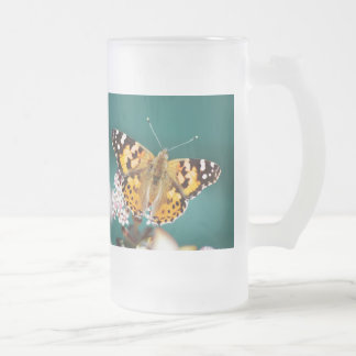 Butterflies are free frosted glass mug