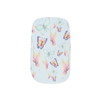 Butterflies are Free Minx Nail Art