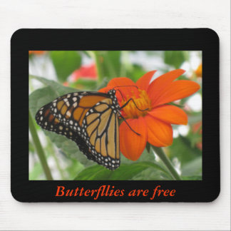 Butterflies are free mouse mat