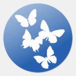 Butterflies are free round sticker
