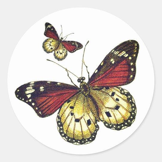 Butterflies Art Classic Round Sticker