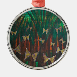 Butterflies ascending from the forest christmas ornament