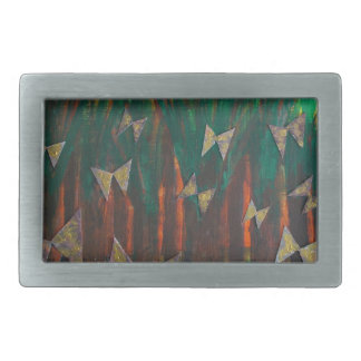 Butterflies ascending from the forest rectangular belt buckles
