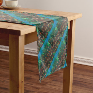 Butterflies ascending from the forest short table runner