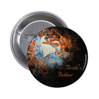 Butterflies at Samhain Father of the Bride Badge