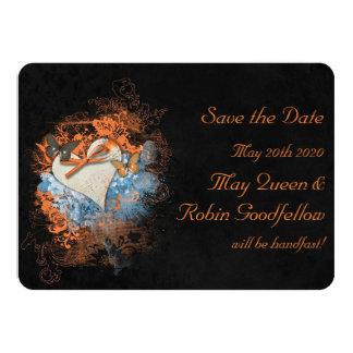Butterflies at Samhain Wedding Save the Date Card 11 Cm X 16 Cm Invitation Card