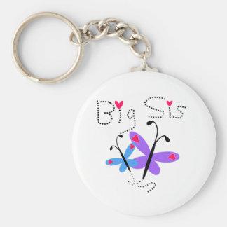 Butterflies Big Sis Keychain