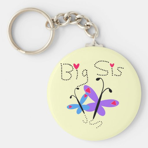 Butterflies  Big Sister Tshirts and Gifts Keychain