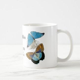 Butterflies - Blue Basic White Mug
