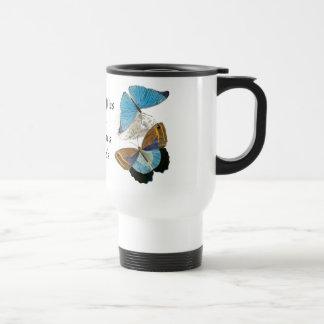 Butterflies - Blue Stainless Steel Travel Mug