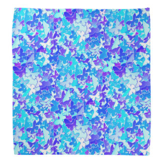Butterflies, blue, turquoise, lavender bandana