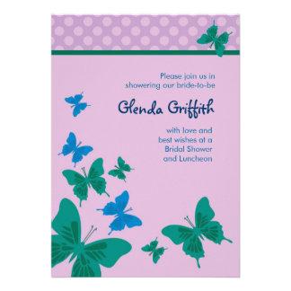 Butterflies Bridal Shower Invitation