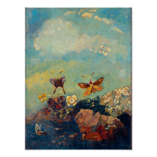 Butterflies by Redon Poster