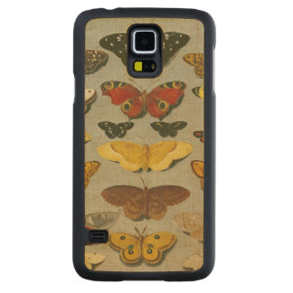 Butterflies Carved Maple Galaxy S5 Case