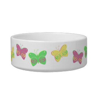 Butterflies Cat Water Bowls