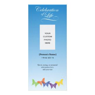 Butterflies Celebration of Life Memorial card