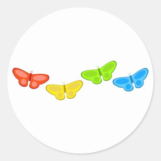 Butterflies Classic Round Sticker