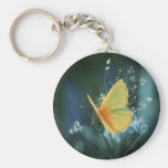 butterflies colours of rainbow basic round button key ring