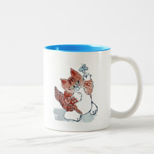 Butterflies Come Out after the Rain & Tiger Kitten Coffee Mug