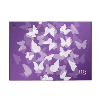 Butterflies Custom Initials Purple Cover For iPad Mini
