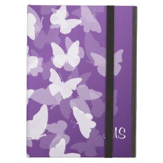 Butterflies Custom Initials Purple iPad Air Cases