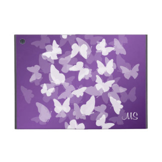 Butterflies Custom Initials Purple iPad Mini Case