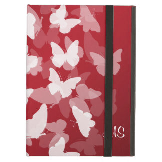 Butterflies Custom Initials Red iPad Air Cover