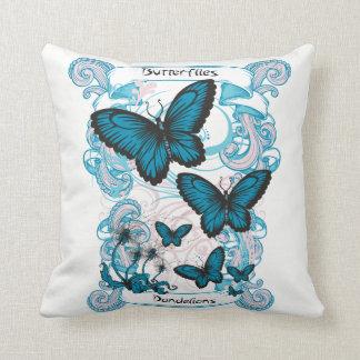 Butterflies & Dandelions Girls Graphic Throw Pillo Cushion