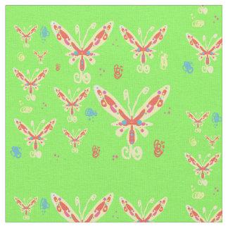 Butterflies design fabric