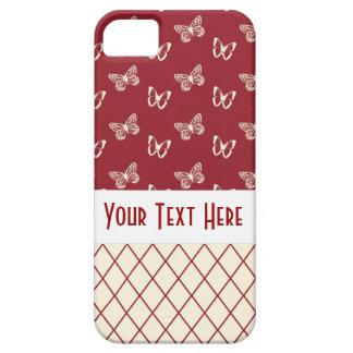 Butterflies & Diamond Lattice Pattern iPhone 5 Cases