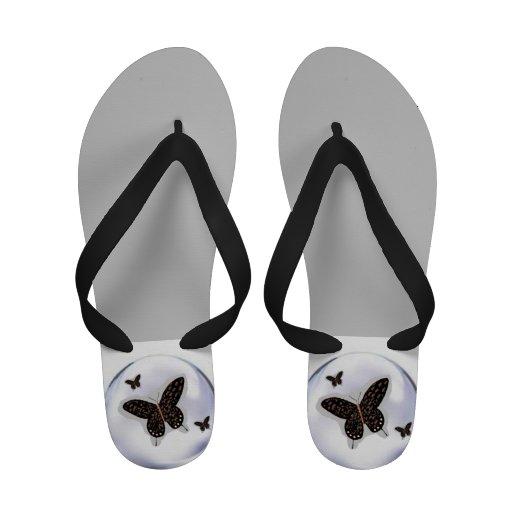 Butterflies Fashion Sandal Shoe for Women Flip-Flops