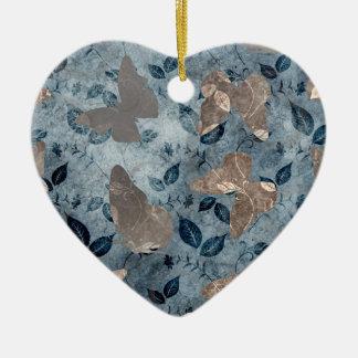 Butterflies Flight Ceramic Heart Decoration
