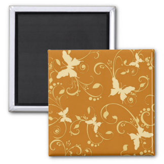 Butterflies Floral 10% Off Sale Square Magnet