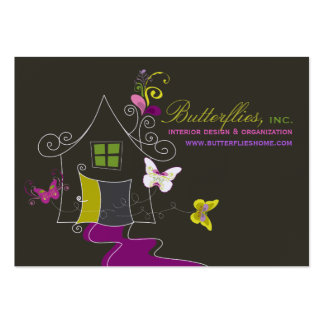 Butterflies Floral House Home Modern Profile Card Pack Of Chubby Business Cards