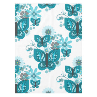 Butterflies & Flowers (blue) Tablecloth