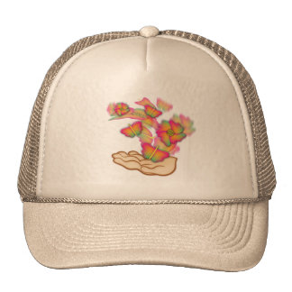 Butterflies & Flowers Trucker Hats