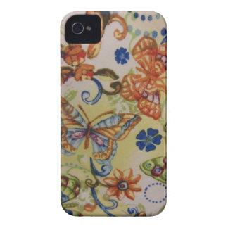 Butterflies Flowers iPhone 4 Case
