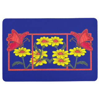 Butterflies & Flowers II Bath Floor Mat